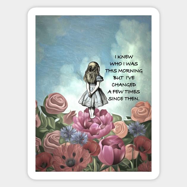 Wondering Alice Alice In Wonderland Quote Alice In Wonderland Sticker Teepublic