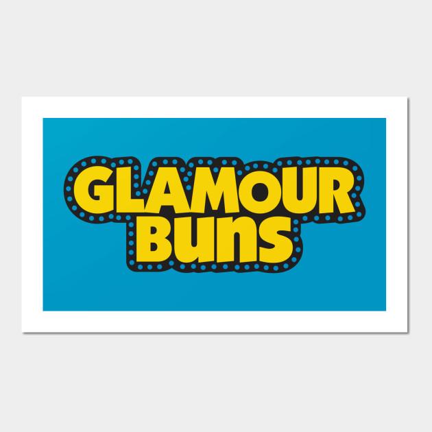 Glamour Buns - Glamour Puns - Wall Art   TeePublic