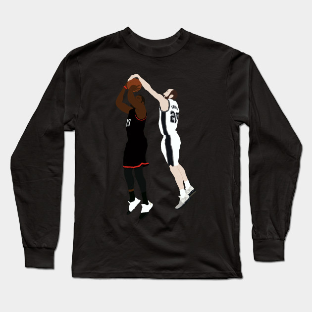 e6b53f02ebf Manu Ginobili Block On James Harden - Manu Ginobili - Long Sleeve T ...