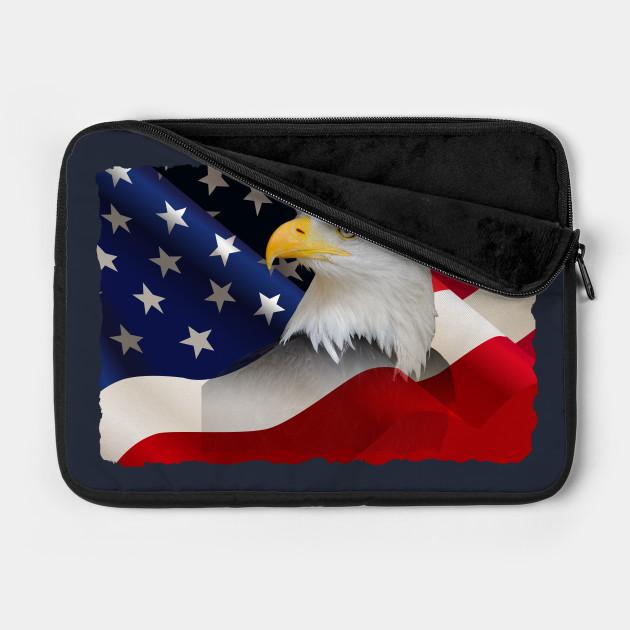 USA Flag with Bald Eagle