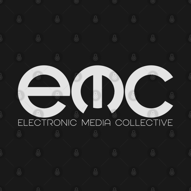 Electronic Media Collective Logo in Light Grey
