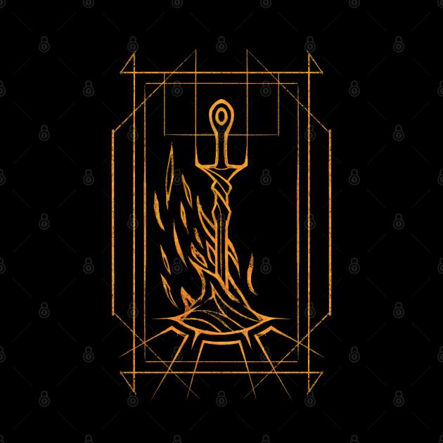 Minimalist Bonfire