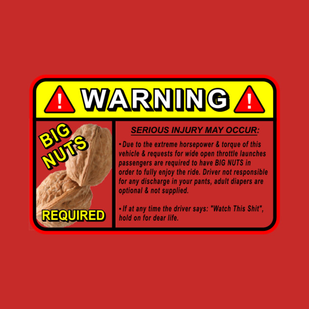 Warning Serious Injury May Occur