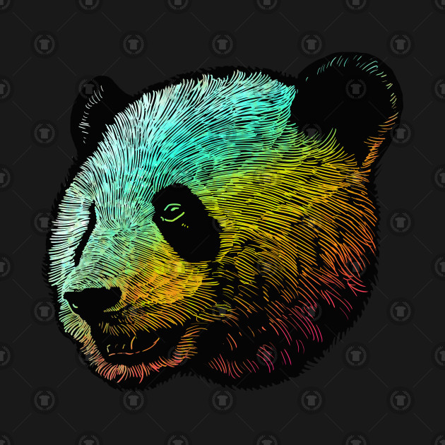 Cool Colored Panda
