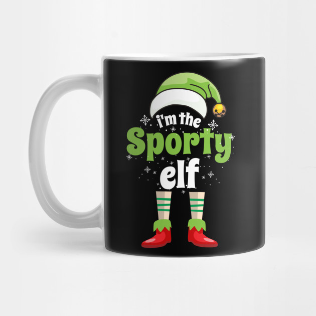I'm The Sporty Elf Funny Family Matching Christmas Elf Mug