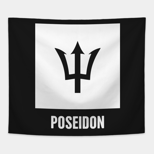 Poseidon Greek Mythology God Symbol Greek Mythology Tapestry