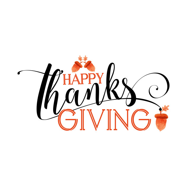 Happy Thanksgiving Modern Typography Design