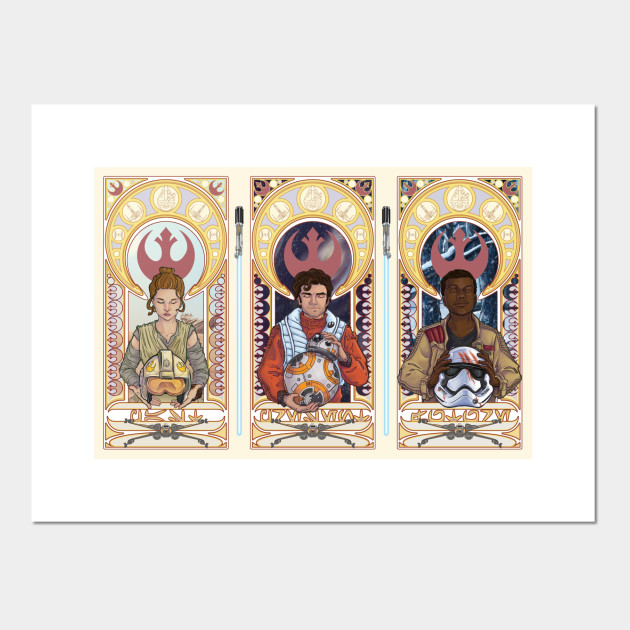 Star Wars Triptych - Star Wars The Force Awakens Design - Posters ...
