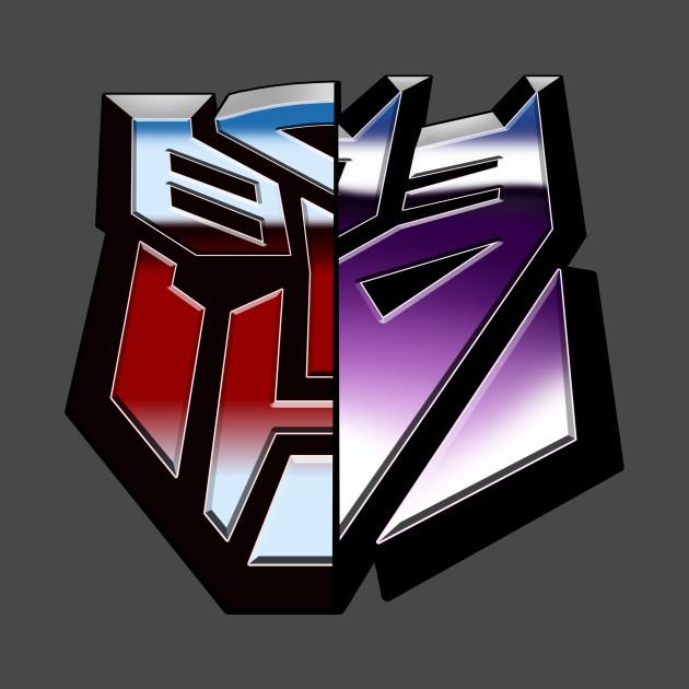autobot vs decepticons transformers t shirt teepublic