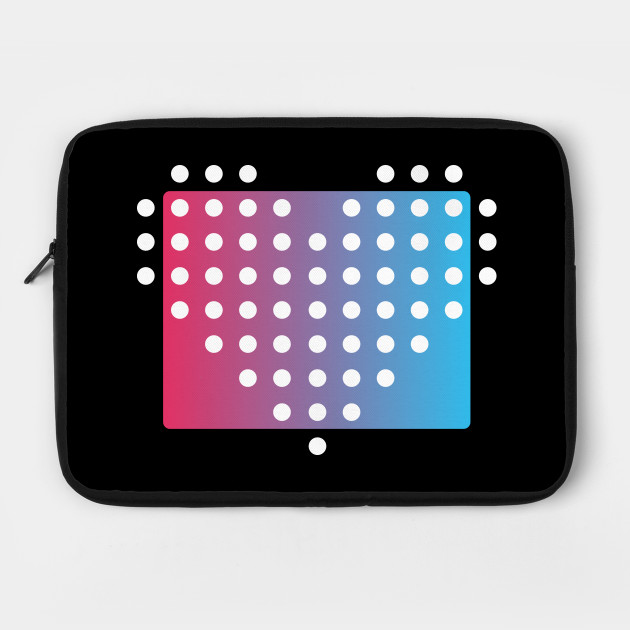 Heart of Dots on Gradient Background