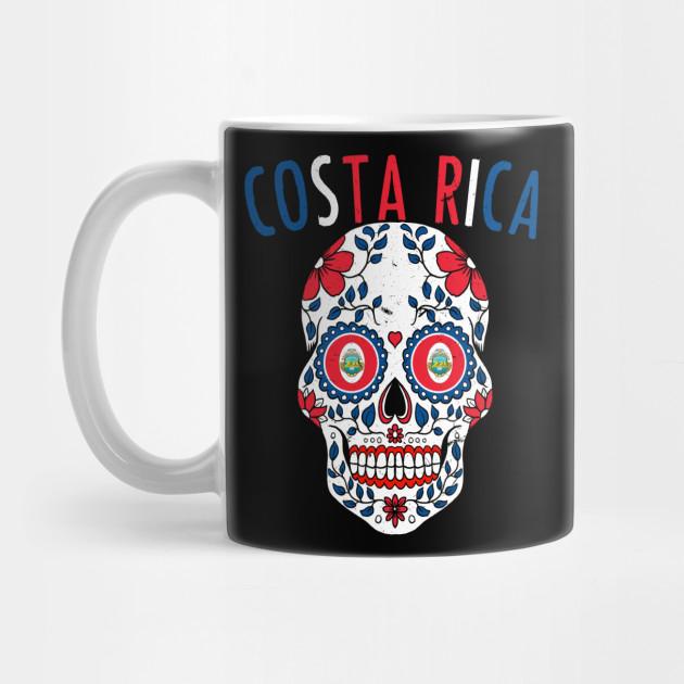 d0943e9b0 Calavera Costa Rica World Cup Team Flag Soccer Jersey Kosta Rika 2018 ...