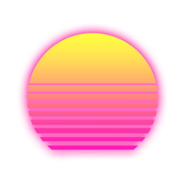 Retro Neon Sunset