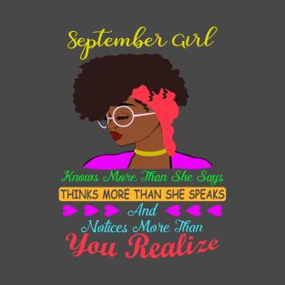 September Girl Knows More T Shirt