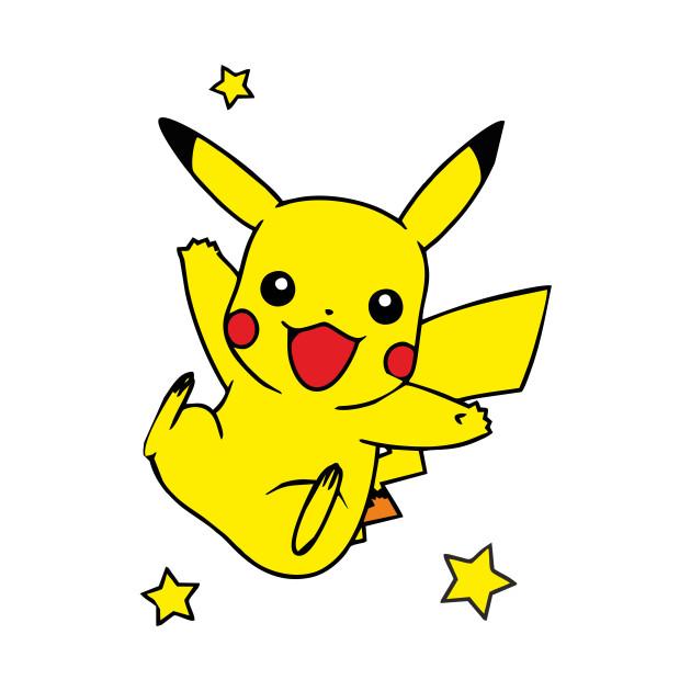 Pokemon Pikachu with Stars
