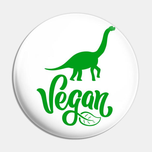 Vegetarian Dinosaur Vegetarian Dinosaur Pin Teepublic