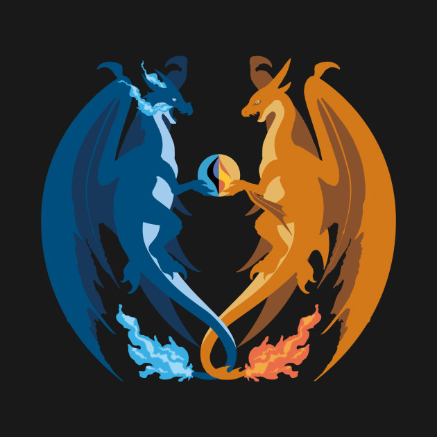 Mega Charizard X and Y: Sillhouettes