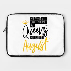 Birthday August Quotes Laptop Cases   TeePublic