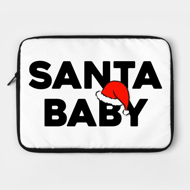 Santa Baby Slip Sable Under Tree Awful Good Girl Santa Claus Red Hat