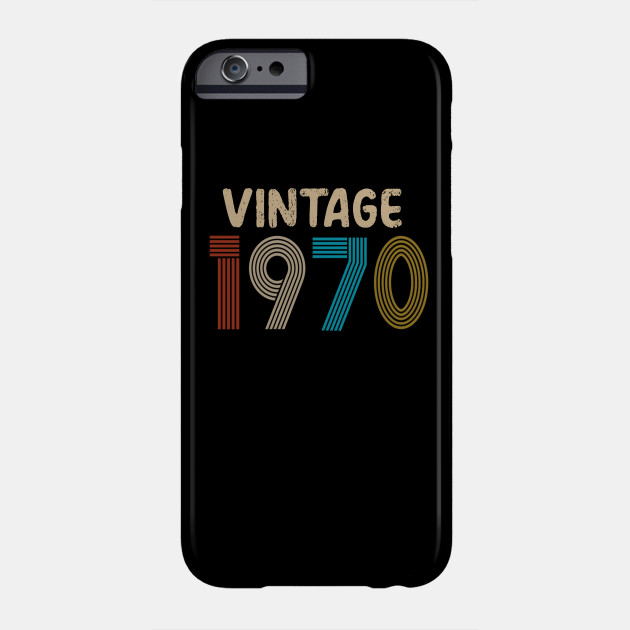 50th Birthday Gift 2020 - Vintage 1970 Phone Case