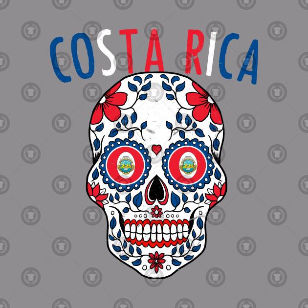 75dc2981d Calavera Costa Rica World Cup Team Flag Soccer Jersey Kosta Rika 2018 - Costa  Rica - T-Shirt