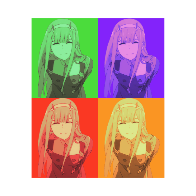 Zero Two Colors | Darling in the Franxx Anime Shirt