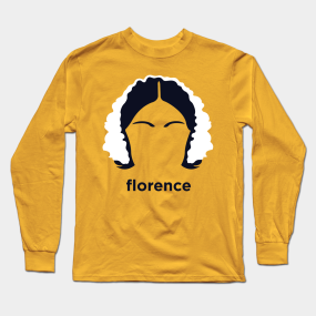 29bc0edf459ee Main Tag Nursing Long Sleeve T-Shirts. Description. A minimalist portrait  of Florence Nightingale from ...