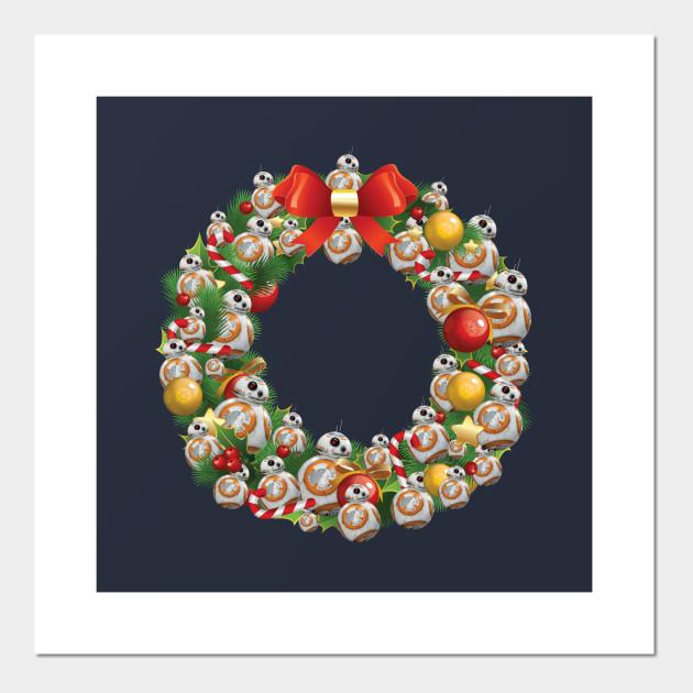 Bb8 Star Wars Multiface Christmas Wreath