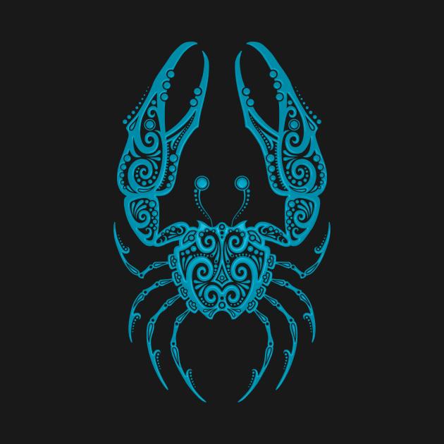 Blue Cancer Zodiac Sign