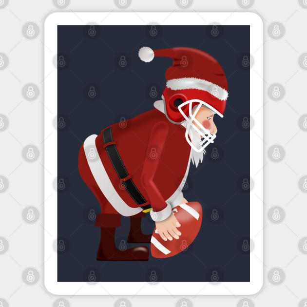 Christmas Eve Football 2020 Santa Plays Football Funny Santa Linebackers   Xmas Eve 2020