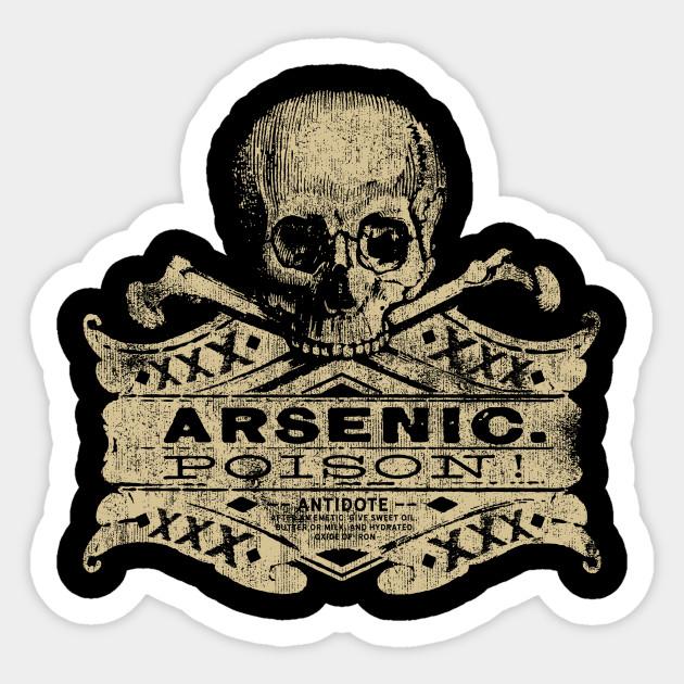 1b3cd9ec Vintage Arsenic Skull Poison Label Halloween Tee - Halloween ...