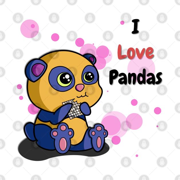 I Love Pandas   Python Dawn Black