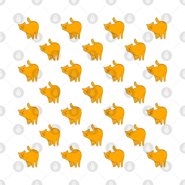 Cute Yellow Cat Pattern