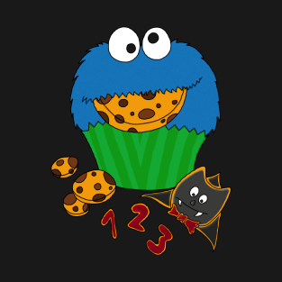 Cookie Monster Cupcake t-shirts