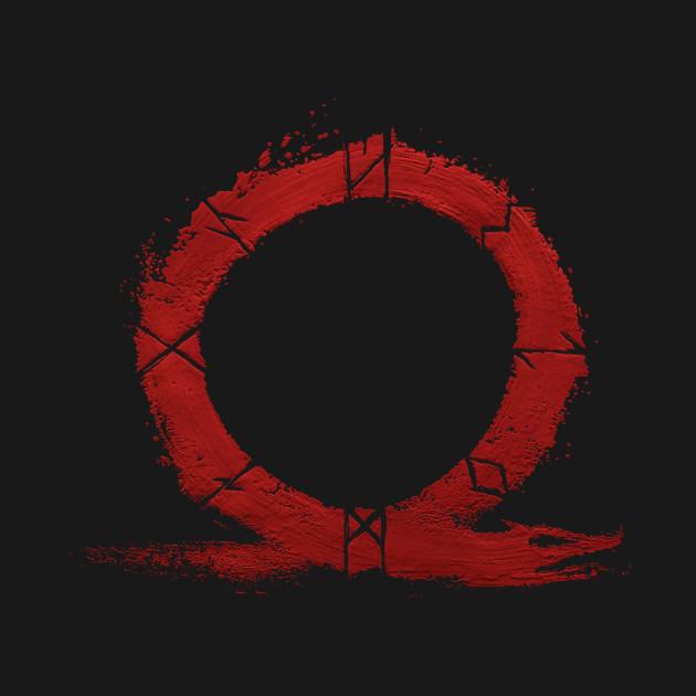 God Of War Ps4 Omega Symbol God Of War Crewneck Sweatshirt
