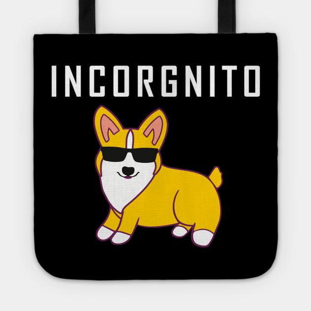 Corgi T Shirt Incorgnito Funny Corgi