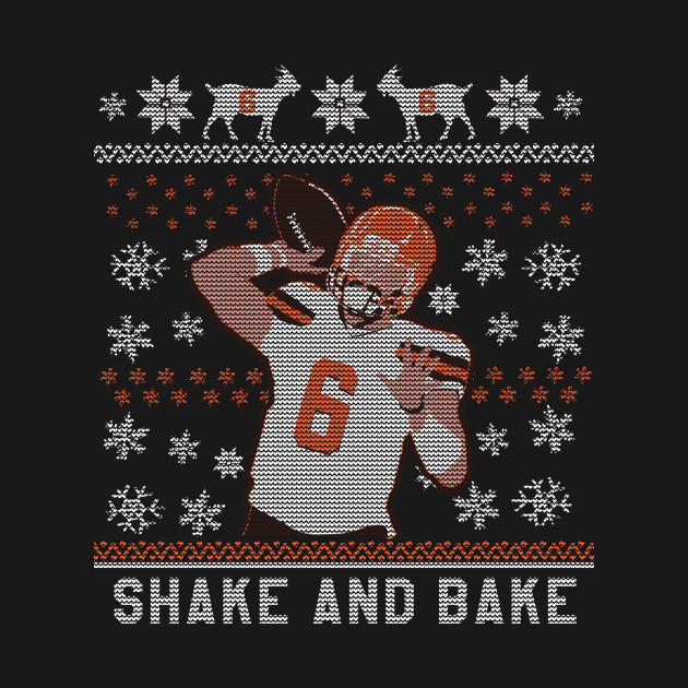 Shake And Bake 6oat Christmas Baker Mayfield Crewneck Sweatshirt