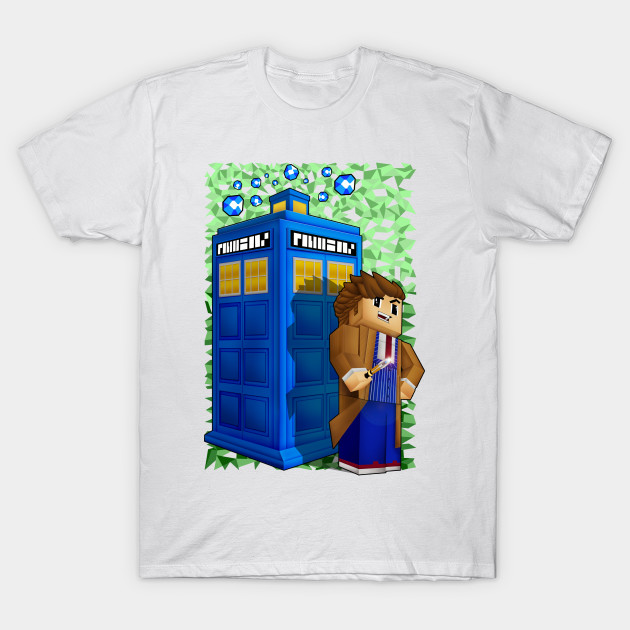 10th Doctor in 8 bit world T-Shirt-TOZ