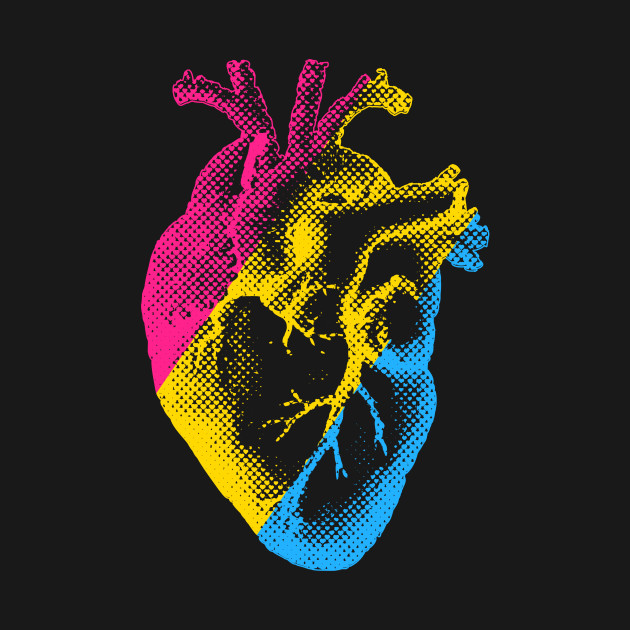 Pansexual heart shirt