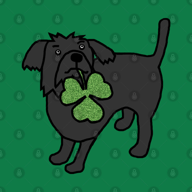 Dog Holding Shamrock