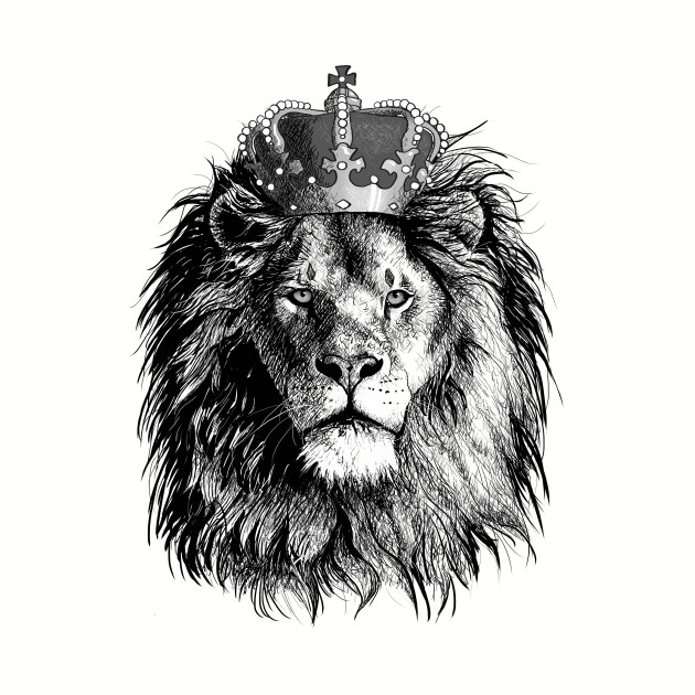 Lion With A Crown - Lion With A Crown - T-Shirt | TeePublic
