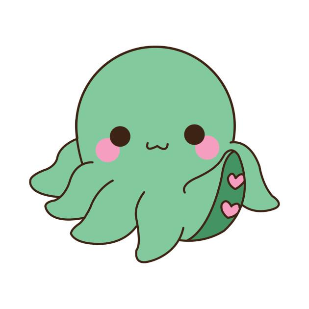 Cute octopus octopus t shirt teepublic for Cute octopus drawing
