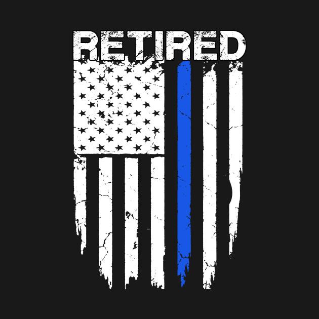 105b11c90c031 Retired Police Officer American Flag Blue Line - Retired Police ...