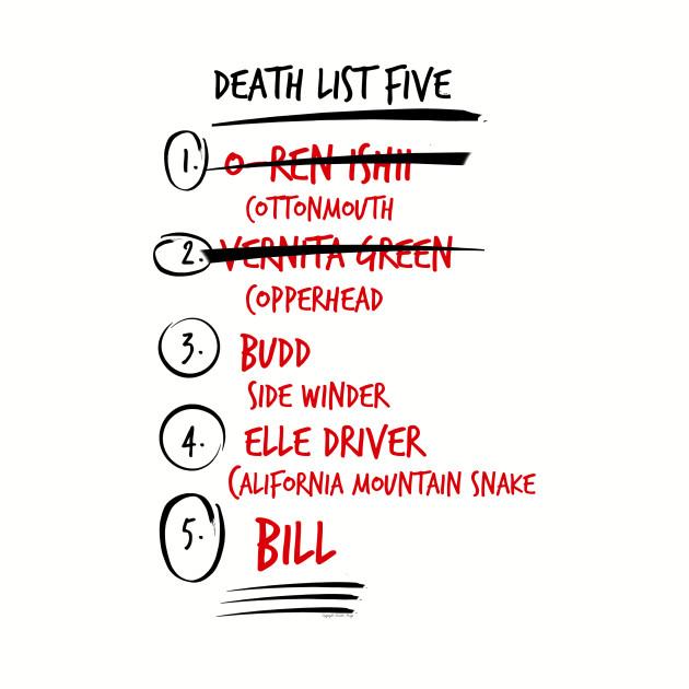 Kill Bill Death List Five