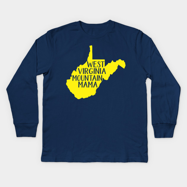 f2b040134 West Virginia Mountain Mama Blue and Gold - Wv - Kids Long Sleeve T ...