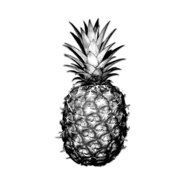 Black & White Pineapples - Pineapple - T-Shirt | TeePublic