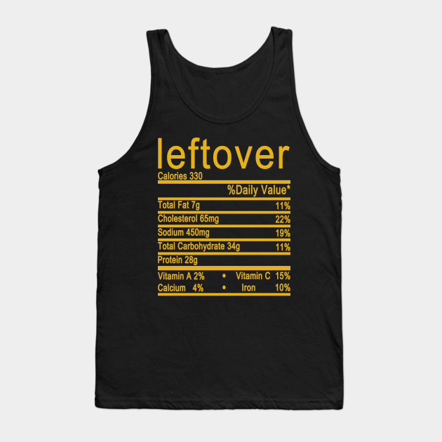 leftover nutrition thanksgiving Tank Top