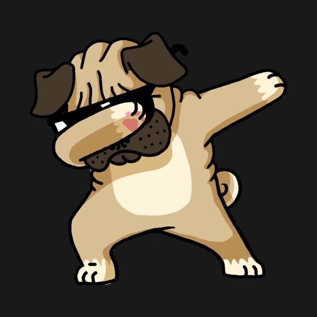 Dabbing Pug funny shirt Hip Hop Dabbin