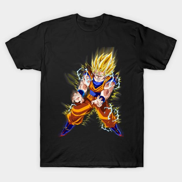 Super Goku Dragon Ball Z Anime T Shirt DBZ Dragonball Air Vegeta Son Goku