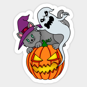 Pumpkin Halloween Stickers | TeePublic
