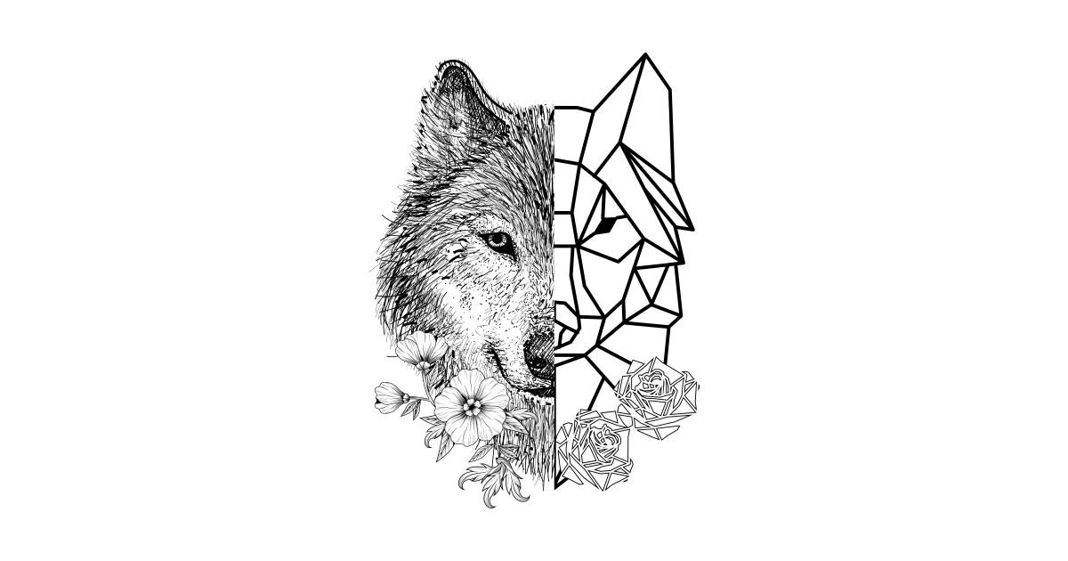 Geometric Wolf - Geometric Wolf - T-Shirt | TeePublic